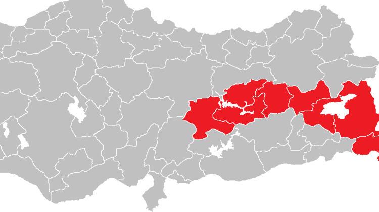 Ortadoğu Anadolu'da 161 yeni vaka görüldü.