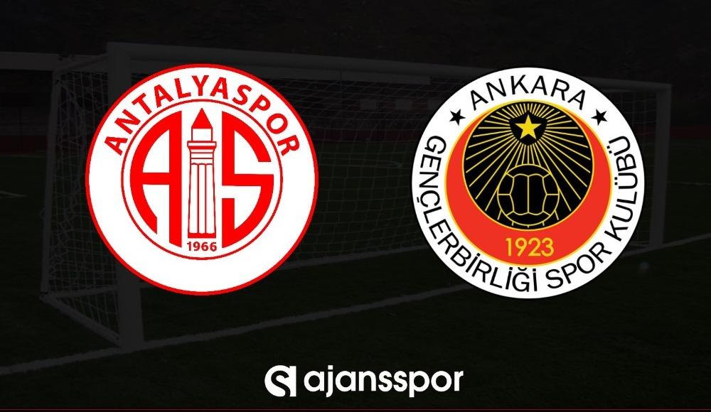 Antalyaspor - Gençlerbirliği (Canlı Skor)