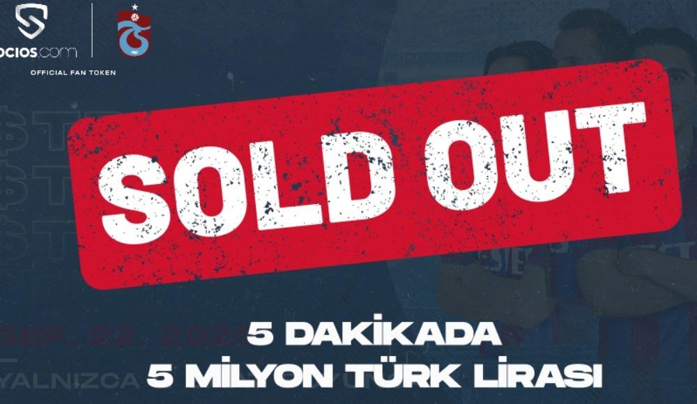 Trabzonspor 5 dakikada 5 milyon TL gelir elde etti