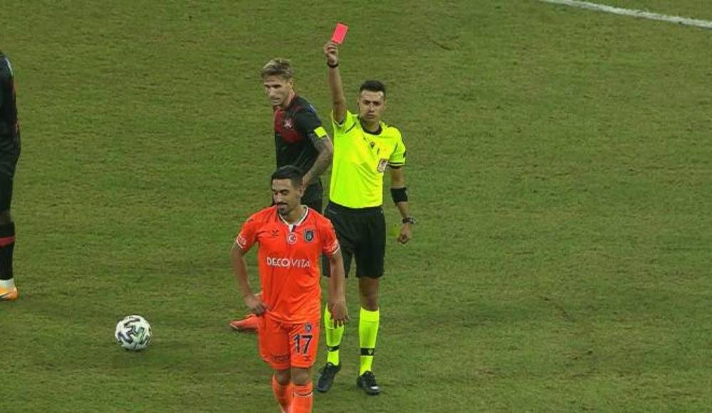 Başakşehir'de İrfan Can Kahveci kırmızı kart gördü!