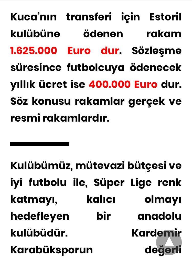 Karabükspor'un Kuca ile ilgili resmî açıklaması...