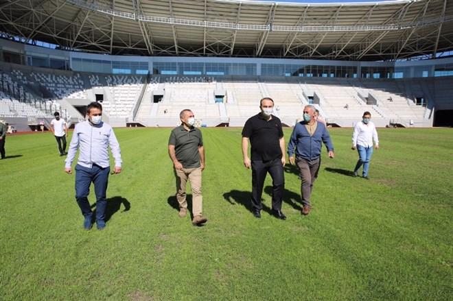 Yeni Ordu Stadı'nın koltukları takılmaya başlandı