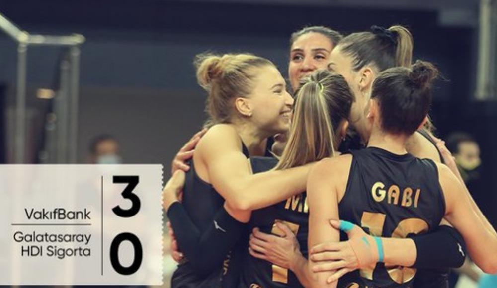 VakıfBank, Galatasaray HDI Sigorta'yı 3-0 yendi