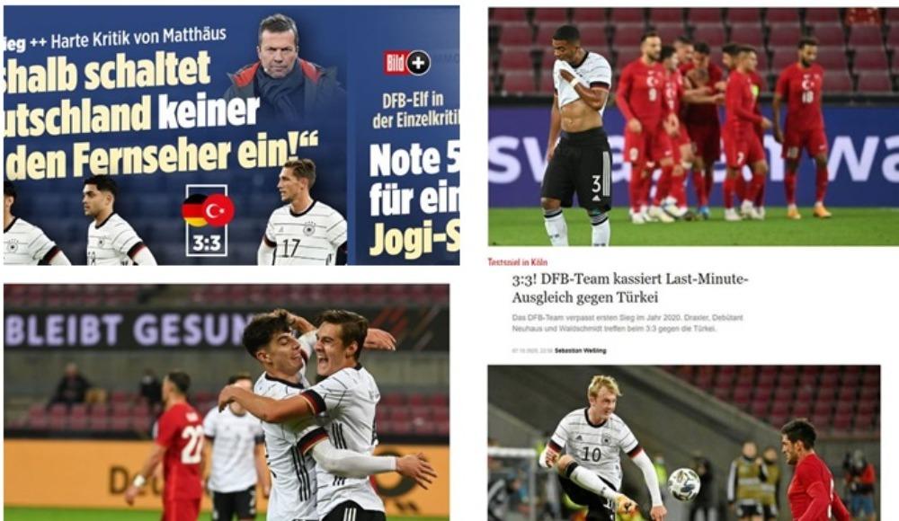 Almanlar, 3-3 biten maç için ne yazdı? Türkiye manşetleri...