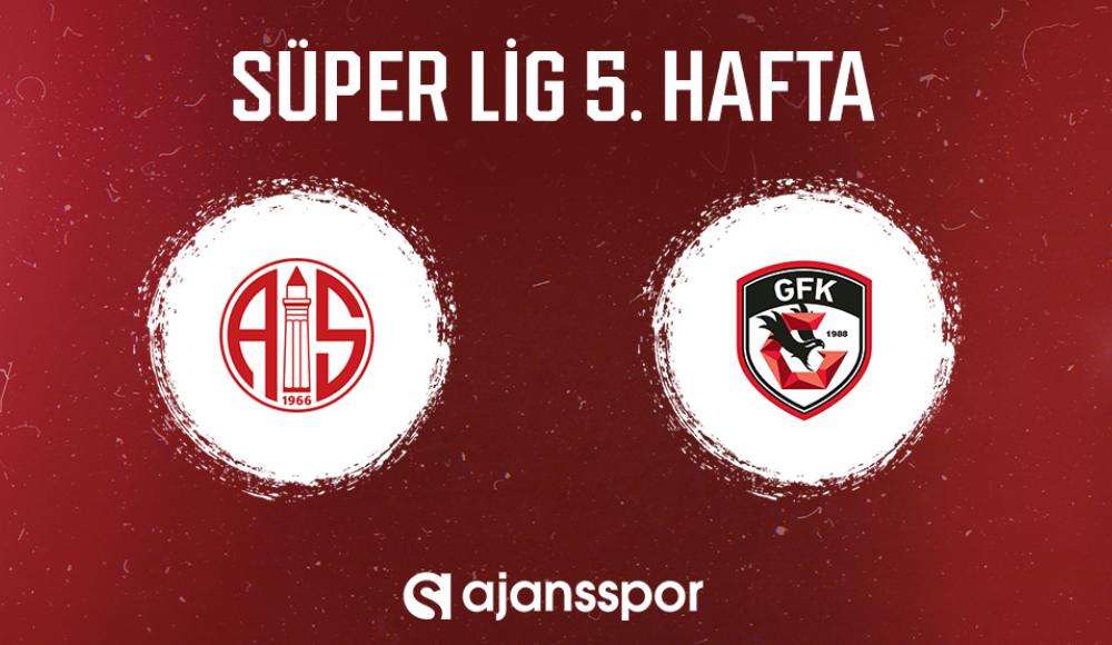 Antalyaspor - Gaziantep FK (Canlı Skor)