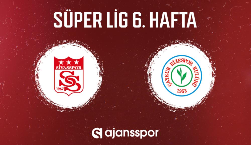 Sivasspor - Çaykur Rizespor (Canlı Skor)