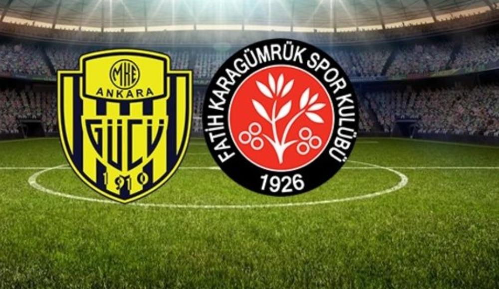 Ankaragücü - Karagümrük maç özeti izle