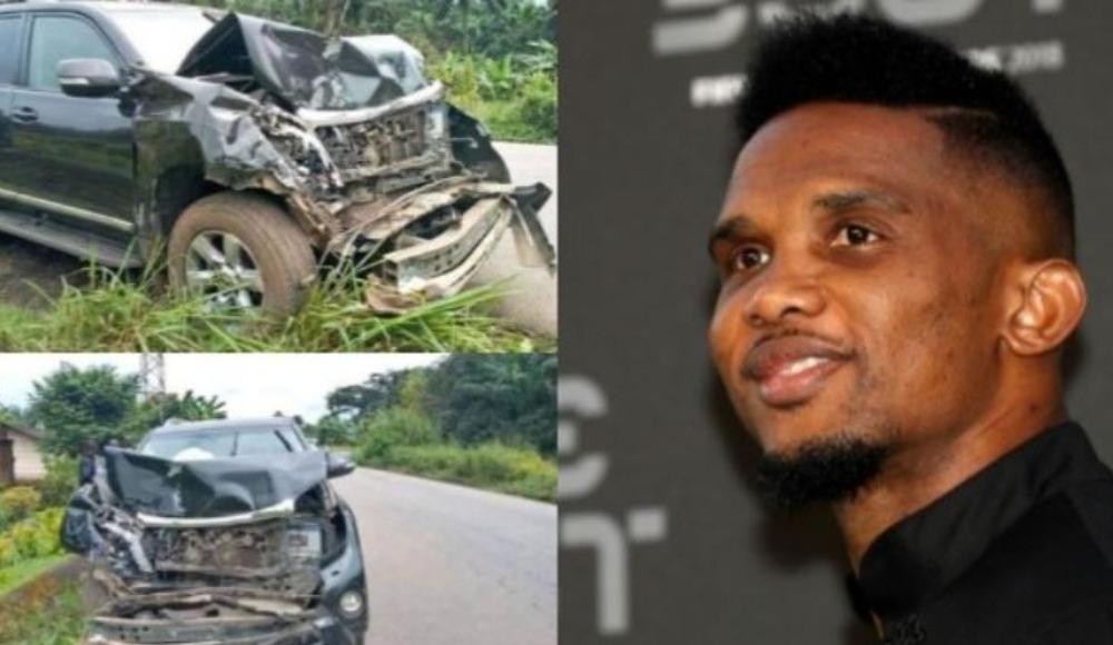 Samuel Eto'o kaza geçirdi! Aracı perte çıktı...