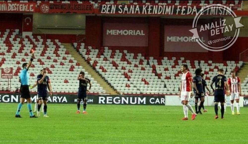 Antalyaspor bu sezon 5 defa kızardı
