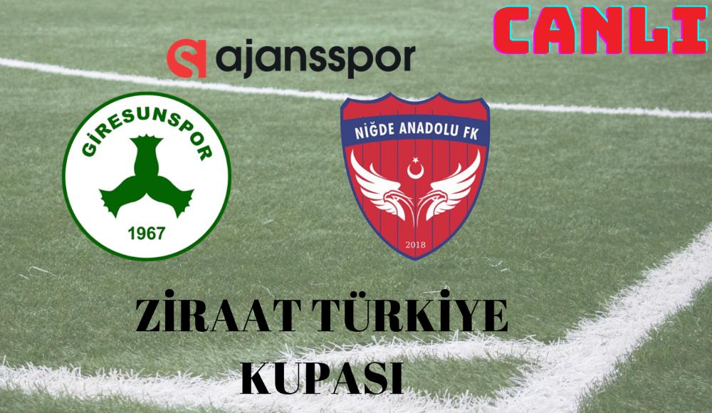 CANLI   Giresunspor - Niğde Belediyespor maçını izle