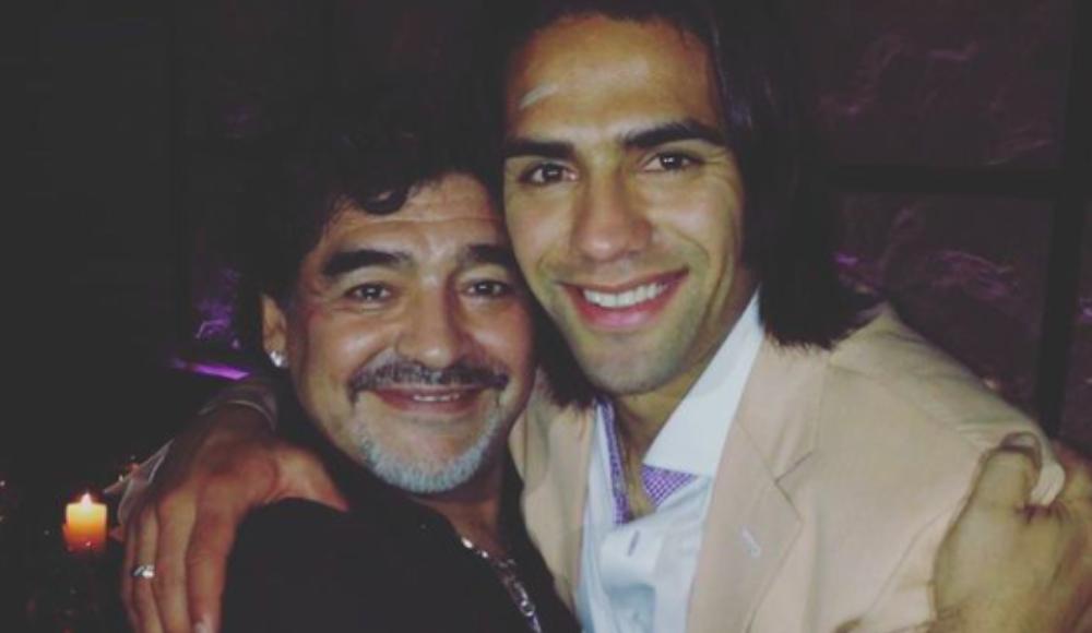 Falcao'dan Maradona'ya: ''Küçük yaşlardan beri hep idolüm oldun''