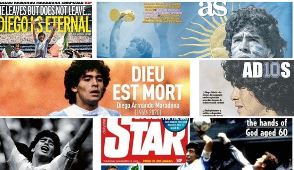 Dünya basınında Maradona manşetleri: Tanrı öldü