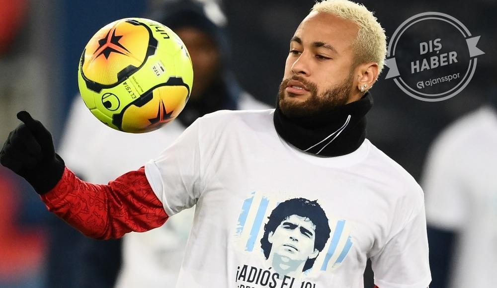 """Neymar, Maradona tişörtüyle çıktı: """"Hoşça kal 10"""""""