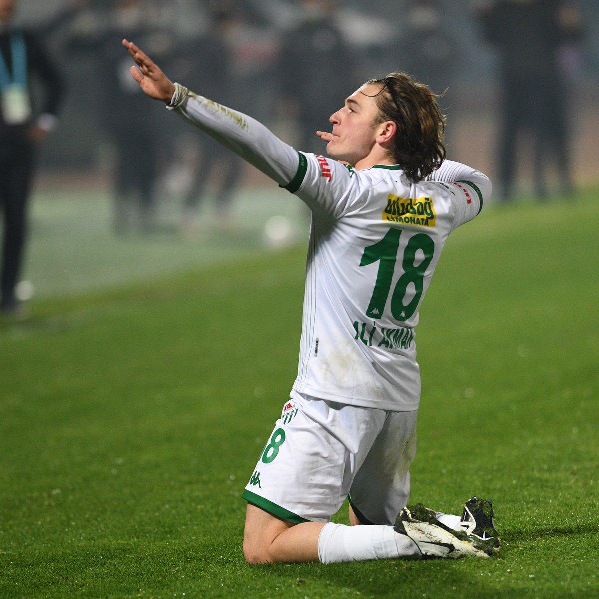 Bursaspor'da Ali Akman, maça damga vurdu