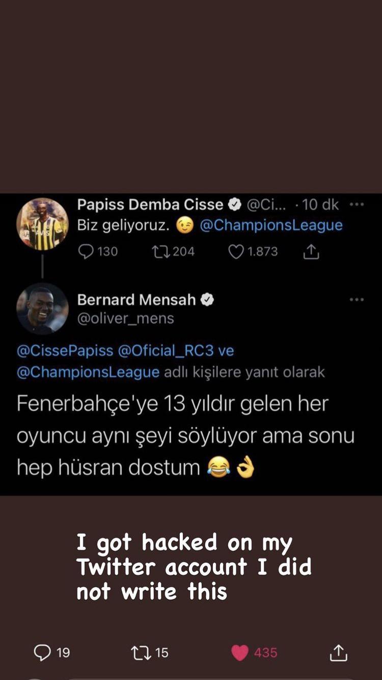 Beşiktaş'ın futbolcusu Bernard Mensah'ın mesajı ortamı gerdi ancak gerçek çok farklı çıktı