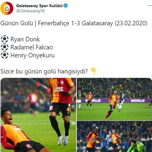 Galatasaray, günün golünü sordu