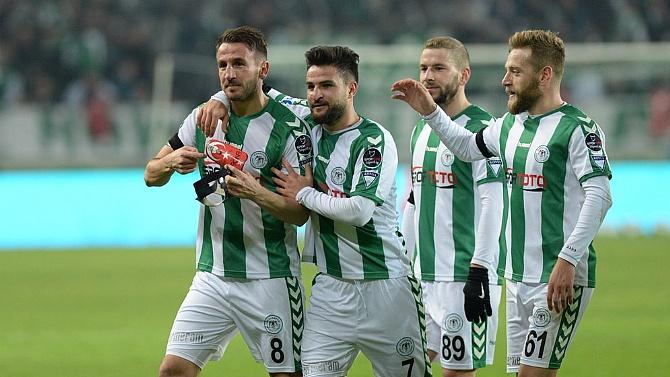 A.Konyaspor 3 puanı tek golle aldı!