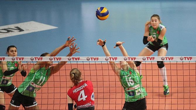 Bursa Büyükşehir Belediyespor çeyrek finalde