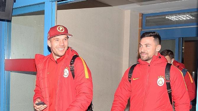 Galatasaray kafilesi, Rize'ye geldi
