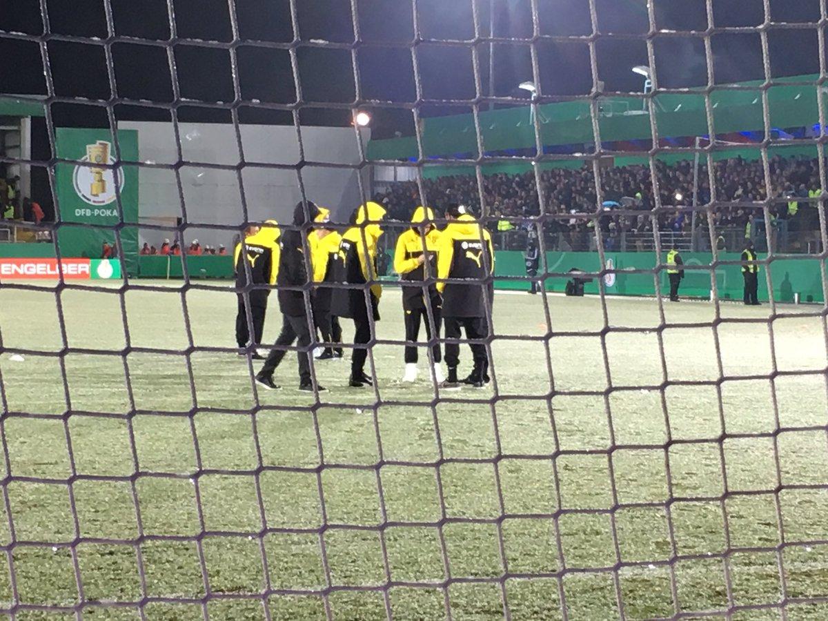 Dortmund'un maçına kar engeli!
