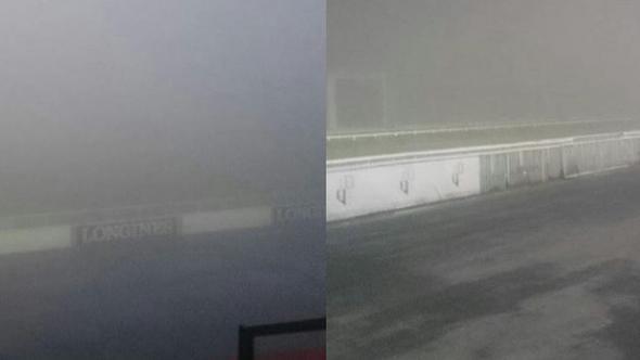 At yarışları sis nedeniyle ertelendi