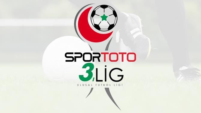 Spor Toto 3. Lig'de günün sonuçları