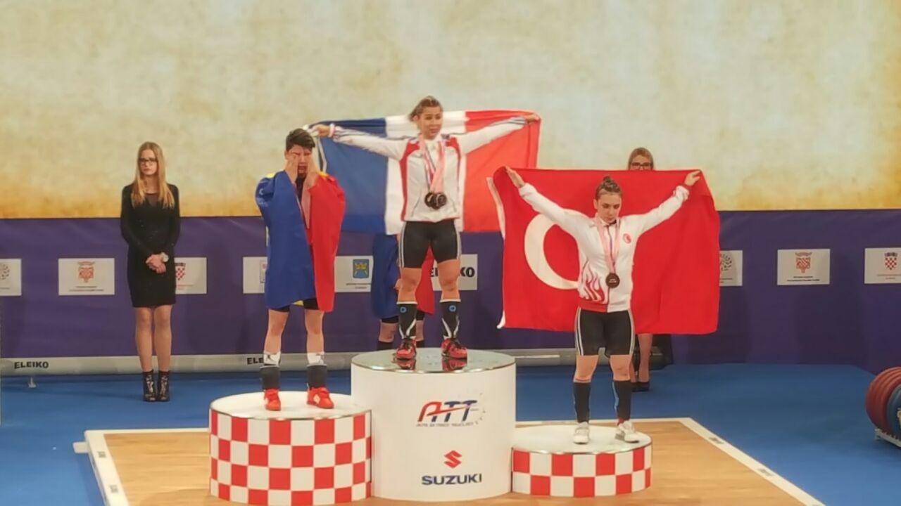 Avrupa Halter Şampiyonası'nda bronz madalya