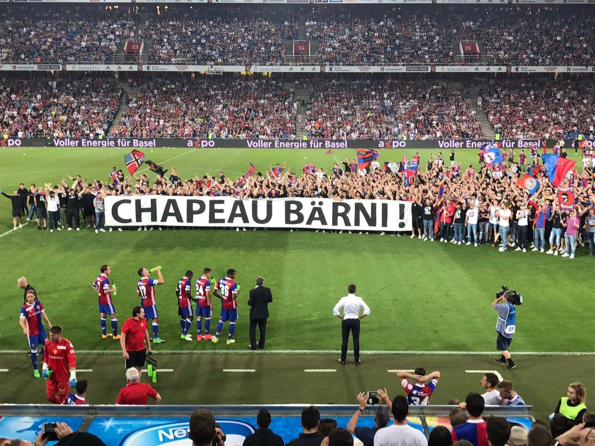 Basel başkanına muhteşem veda!