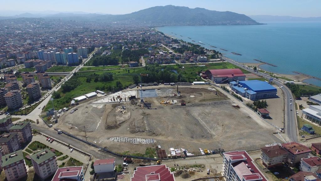 Ordu stadının ilk temel betonu döküldü