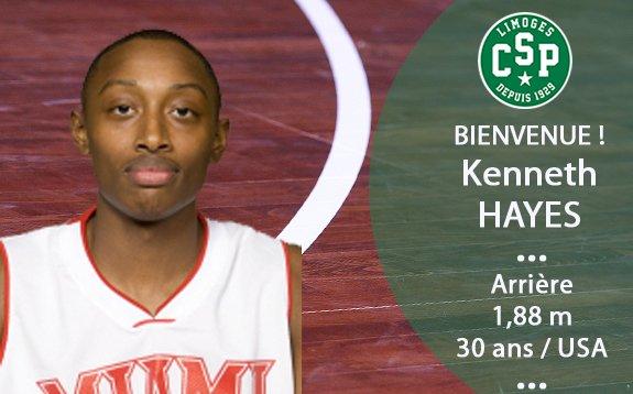 Kenny Hayes, Limoges CSP takımına transfer oldu!