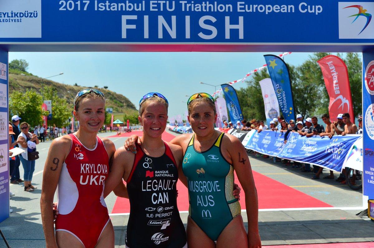 Triatlon Avrupa Kupası'nda kazananlar belli oldu
