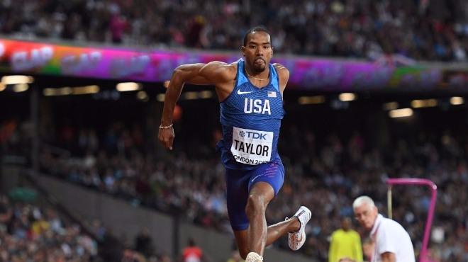 Üç adım atlamada altın madalyayı, Christian Taylor kazandı