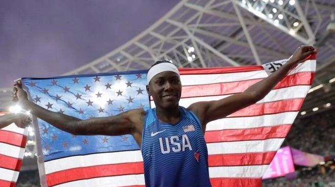 Uzun atlamada ABD'li sporcu zirvede