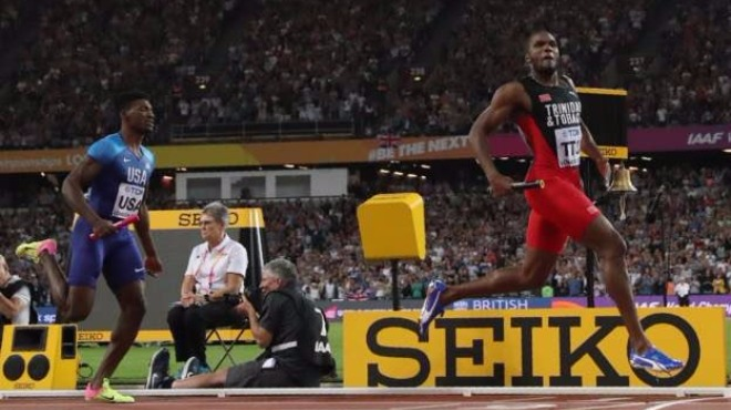 4x400 metre bayrak yarışını Trinidad ve Tobago kazandı