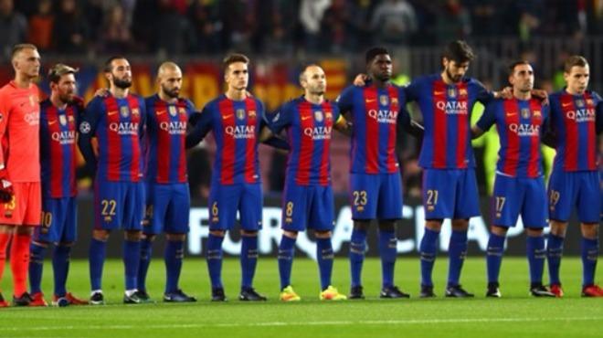 Barcelona maça siyah bantla çıkacak
