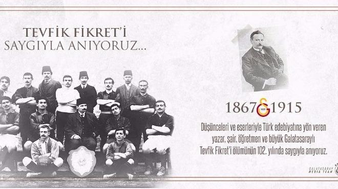 Galatasaray Kulübü, Tevfik Fikret'i andı