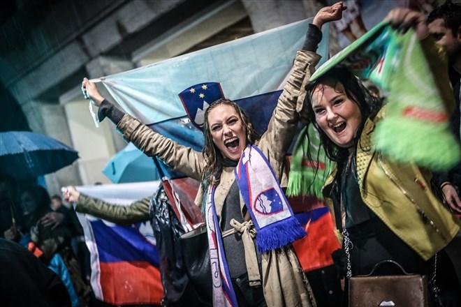Slovenya'nın tarihi zaferi coşkuyla kutlandı!