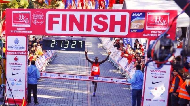 Vodafone İstanbul Maratonu'na katılım artınca finiş değişti!