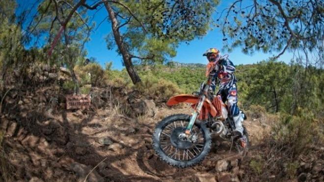 Sky Enduro Yarışları'nın orman etabı tamamlandı