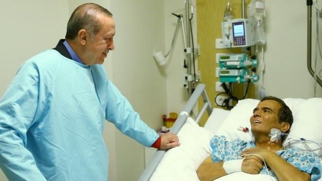 Cumhurbaşkanı Erdoğan'dan Naim Süleymanoğlu'na ziyaret