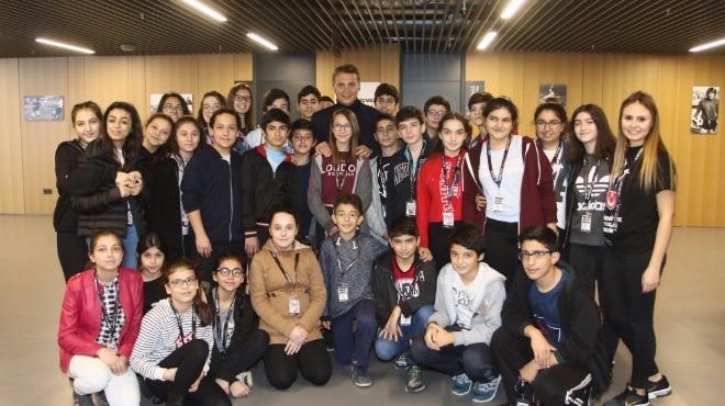 Fikret Orman, Vodafone Park'ta öğrencilerle buluştu