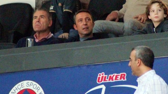 Fenerbahçe başkan adayı Ali Koç, Khimki maçını izledi