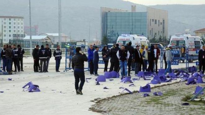 Afyonspor-Bucaspor maçı sonrasında kavga çıktı