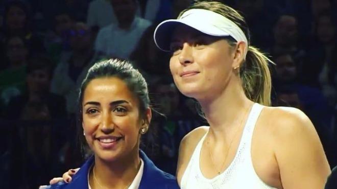 Maria Sharapova için ünlüler akın etti