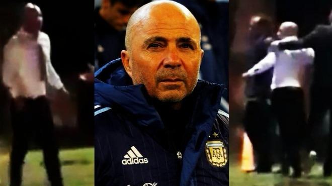Video - Arjantin Milli Takım Teknik Direktörü Jorge Sampaoli sürüklenerek götürüldü