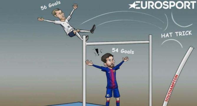 Harry Kane 2017'ye damgasını vurdu Messi'yi bile geçti