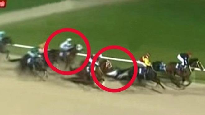 Video - At yarışında talihsiz kaza! İğneyle uyutuldu...