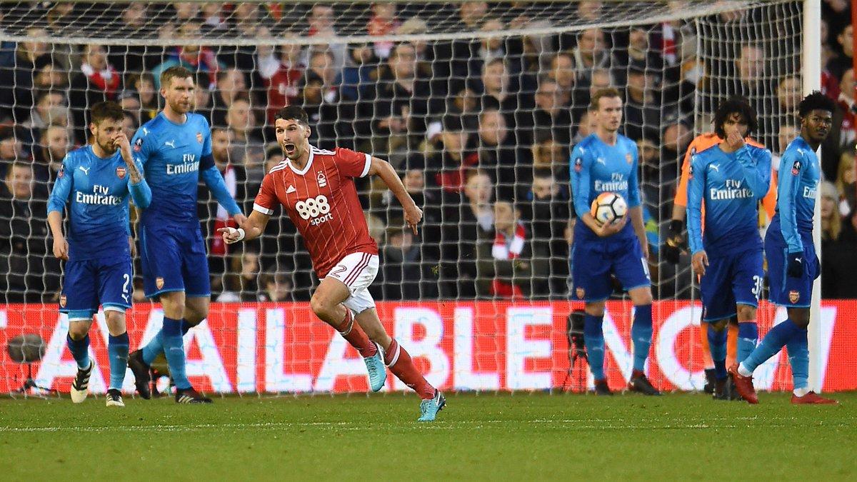 Nottingham Forest, FA Cup 3. tur maçında Arsenal'a acımadı! 4-2