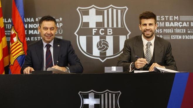 Barcelona, Pique ile sözleşme yeniledi!