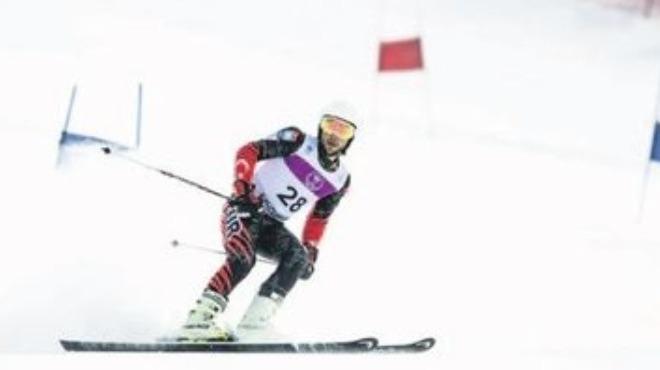 Genç kayakçının kayak serüveni!